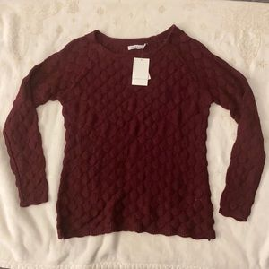 NWT Alfred Sung Sweater Size XL Burgundy